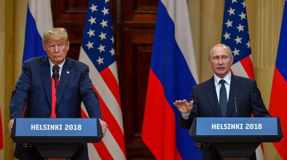 Acaba la reunión privada entre Donald Trump y Vladimir Putin. (Foto: Reuters)