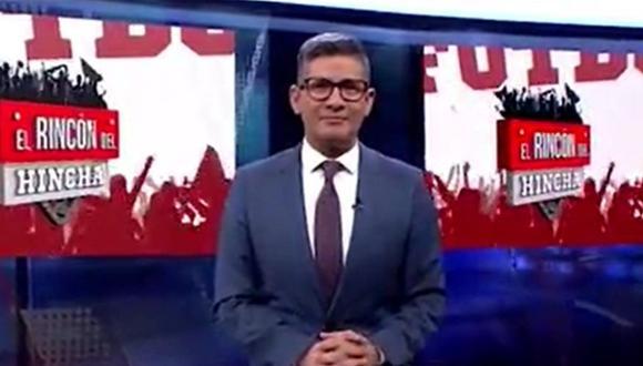 """Erick Osores reapareció en """"El Rincón del Hincha"""" tras vencer el COVID-19. (Foto: Captura de video)"""