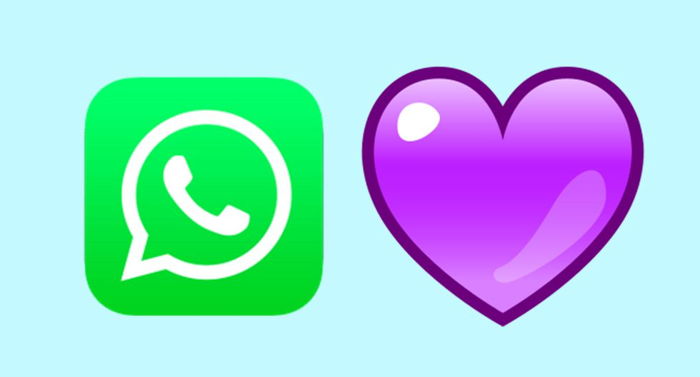 ¿Sabes qué quiere decir el corazón morado o violeta en caso lo uses en una conversación de WhatsApp? (Foto: Emojipedia)