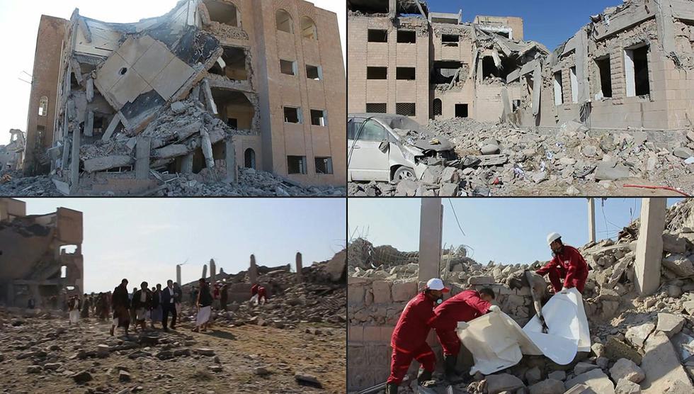 Un bombardeo en Yemen pudo provocar cerca de 100 muertos, según la Cruz Roja. (Foto: AFP)
