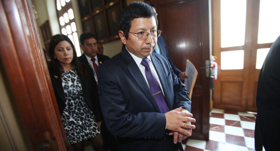 El ministro de Transportes y Comunicaciones (MTC), Edmer Trujillo, fue gerente general del gobierno regional de Moquegua.  (Foto: Dante Piaggio/El Comercio).
