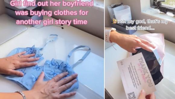 Una mujer se enteró que su pareja le estaba siendo infiel a raíz de un correo electrónico de una tienda de ropa. (Foto: @itsmollylux / TikTok)
