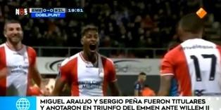 Sergio Peña y Miguel Araujo destacan en la Eridivisie