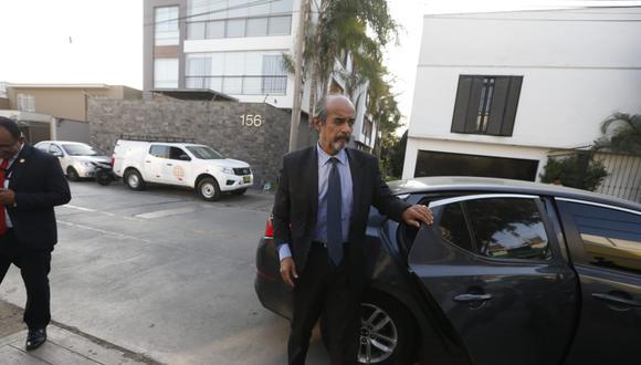 El ex presidente Alan García se reunió esta tarde con integrantes de la agrupación aprista, entre ellos, Mauricio Mulder. (Foto: Mario Zapata / GEC)