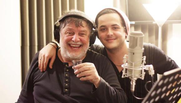 Jorge Madueño y su hijo Augusto, quien prepara un disco/documental en honor al trabajo de su padre.