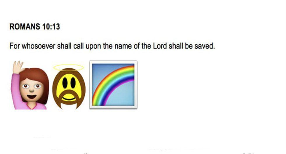 Pide US$25 mil para traducir la Biblia en emoticones