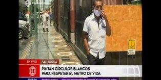Coronavirus en Perú: pintan círculos para mantener distancia y evitar contagios
