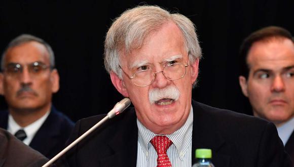 John Bolton, exasesor de Seguridad Nacional. (Foto: AFP)
