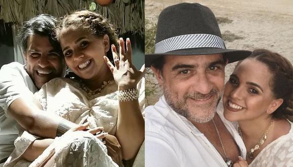 Sandra Muente se casó con el productor musical Ricardo Núñez en México. (Foto: @sandramuente/@rik_nunez)
