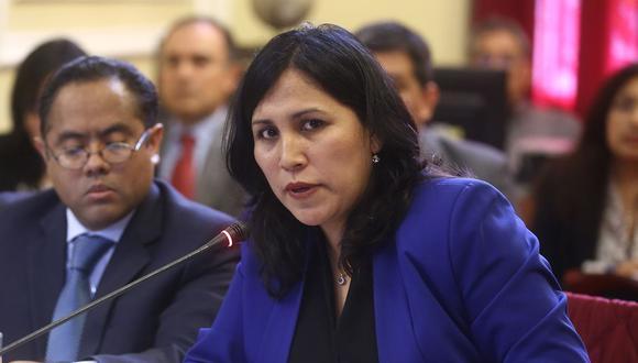 La ministra Flor Pablo Medina será interpelada este jueves 9 de mayo. (Foto: Congreso de la República)