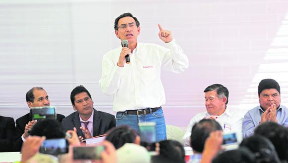 El presidente Martín Vizcarra descartó que sus ministros vayan a renunciar tras la difusión de un audio de una conversación que sostuvo con autoridades de Arequipa. (Foto: Presidencia de la República)