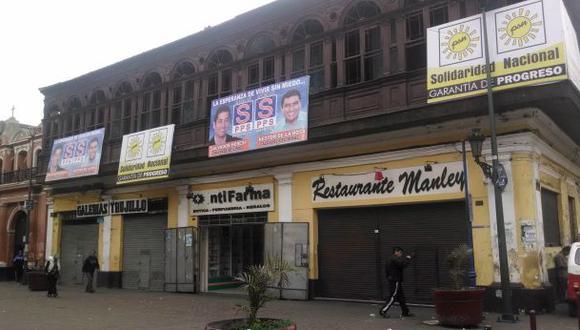 Propaganda política invade el Centro Histórico del Rímac