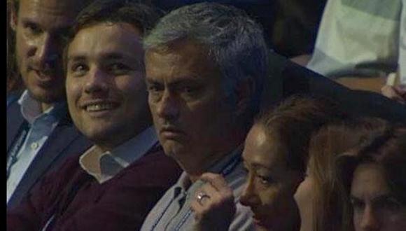José Mourinho fue a ver el Federer-Murray y terminó pifeado