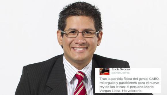 Erick Osores crea polémica por comentario sobre García Márquez