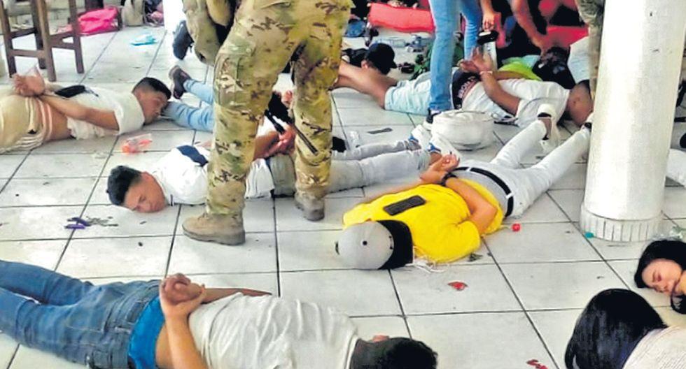 La semana pasada fueron detenidos 124 personas en un hotel de Punta Negra. (Mininter)