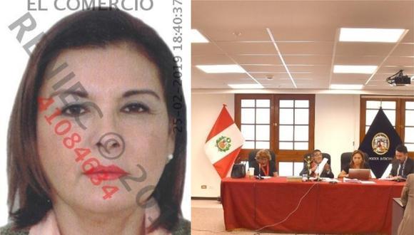 Hermana de 'Lunarejo' se fue de audiencia antes de ser sentenciada a 25 años de cárcel. (Foto: El Comercio/Poder Judicial)