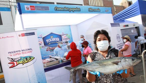 """Durante el mes de febrero, con la estrategia """"Mi Pescadería"""" del programa A comer pescado del Produce, se logró colocar a nivel nacional más de 140 toneladas de productos hidrobiológicos. El bonito fue uno de los más consumidos."""
