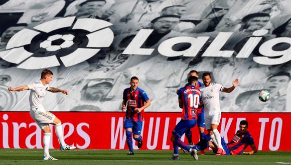 Toni Kroos marcó uno de los mejores goles del Real Madrid en LaLiga 2019-20   Foto: AFP