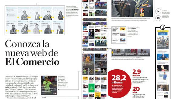 La edición online de El Comercio se renueva, manteniendo el ADN de la edición impresa. (El Comercio)