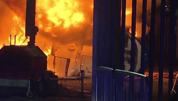 El vehículo del propietario del Leicester City chocó en las inmediaciones del estadio. (Foto: Sky Sports)