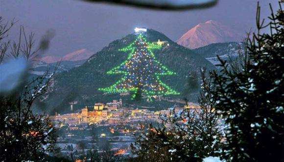 El árbol de Navidad más grande del mundo tiene una superficie de 1000 metros cuadrados.