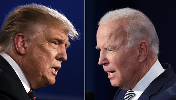 El presidente de los Estados Unidos, Donald Trump (izq.) y el exvicepresidente demócrata Joe Biden. (Foto: JIM WATSON y SAUL LOEB / AFP).
