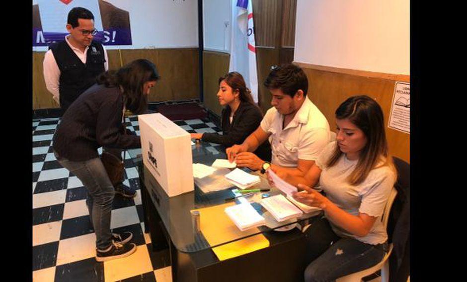 La ONPE supervisa las elecciones internas de Somos Perú y Acción Popular. (Foto: ONPE)