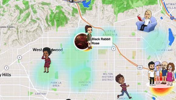 """Así se ve el mapa de Snapchat, en solo tres pasos te puedes """"volver invisible"""". (Foto: YouTube)"""