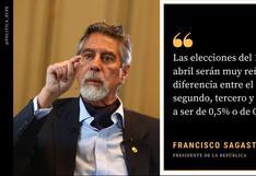Francisco Sagasti: las frases más resaltantes que el presidente dejó a El Comercio