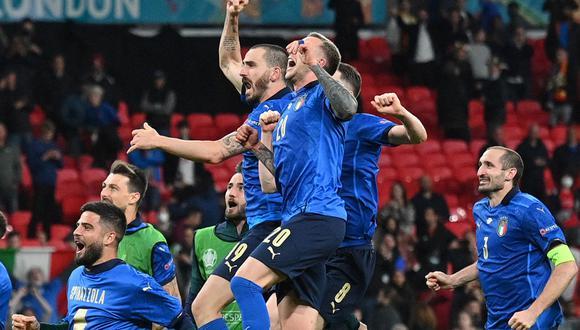 Italia venció por penales a España (4-2) y logró clasificar a la final de la Eurocopa 2020. Enfrentará al ganador de la llave entre Inglaterra-Dinamarca en Wembley. (Foto: AFP)
