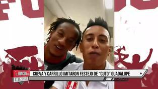 """Cueva y Carrillo imitan famoso festejo del """"Cuto"""" Guadalupe"""