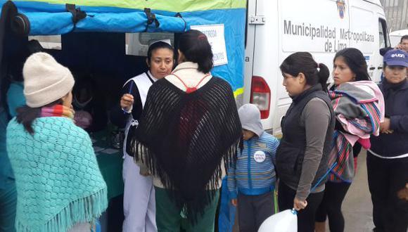 Sisol hace campaña de salud en Ticlio Chico en VMT