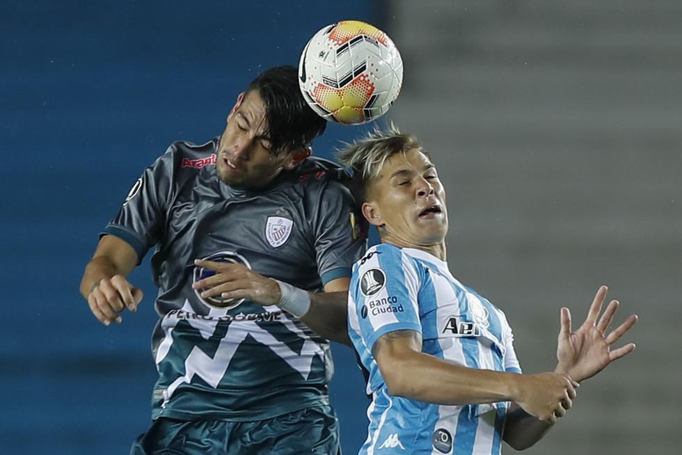 Racing vs. Estudiantes de Mérida, por la Copa Libertadores 2020. (Foto: AFP)