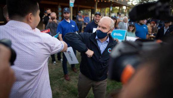 Erin O'Toole ha superado las expectativas durante su campaña. (Getty Images).