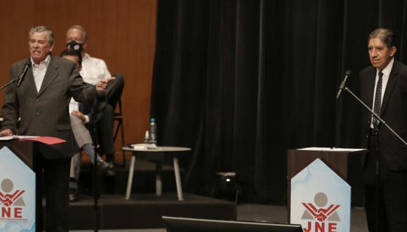 Repasa lo mejor del debate de equipos técnicos de Fuerza Popular y Perú Libre en el encuentro organizado por el JNE. FOTO: GEC