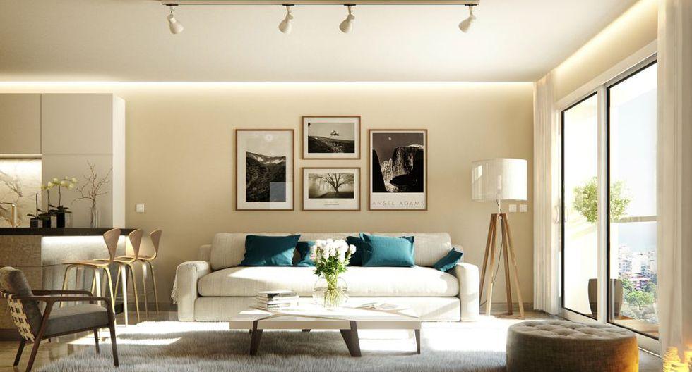 Elegir los colores adecuados y colocar espejos te permitirán sacarle provecho a la decoración de un departamento pequeño. (Foto: Inmobiliaria Edifica)