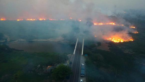 El mes pasado, la agencia espacial de Brasil, Inpe, detectó 1684 incendios en la región, el número más alto en julio desde que comenzó a monitorear en 1998 (Foto: Governo de Mato Grosso do Sul).