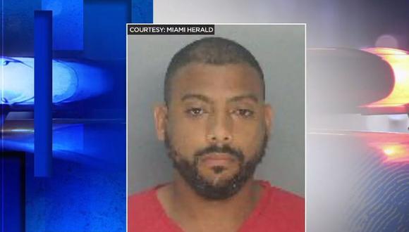 Lewis Díaz, de 29 años, había sido detenido el mes pasado por agredir a su exnovia en medio de una audiencia judicial vía Zoom.  (Captura de video / WPLG Local 10).