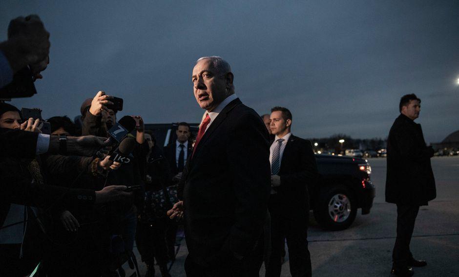 Benjamín Netanyahu, primer ministro de Israel, en Washington en marzo, después de una reunión con el presidente de Estados Unidos, Donald Trump. Foto: Dan Balilty/The New York Times