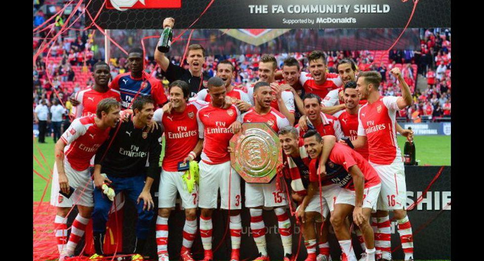Alegría y emoción: Arsenal festejó título de Community Shield - 2