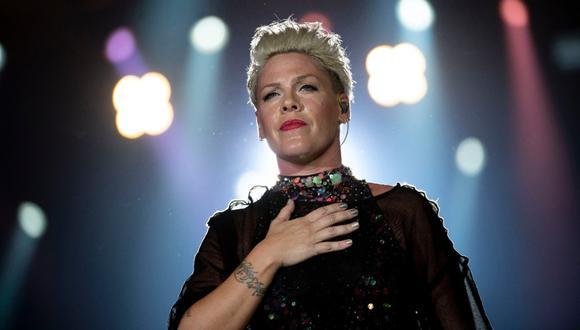 Cantante Pink ofreció su ayuda para fondos contra el coronavirus. (Foto: AFP)
