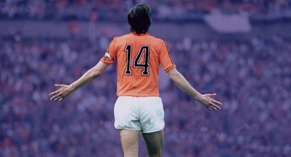 El mítico dorsal '14' de Johan Cruyff, el que usó en todos sus equipos. (Foto: Agencias)