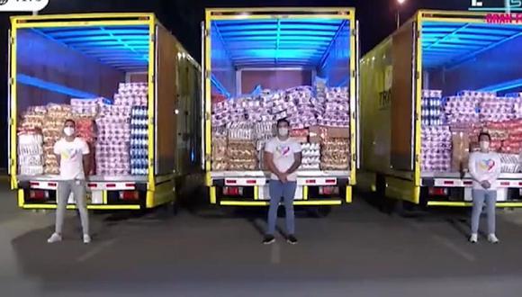 """""""Esto es Guerra"""" donará un segundo camión de víveres a personas vulnerables (Foto: Captura de video)"""