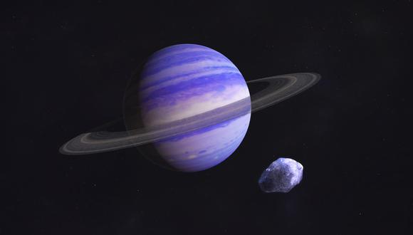 Representación artística del planeta GJ 15 A c, similar a Neptuno. (Imagen: Centro de vuelo espacial Goddard de la NASA / Francis Reddy)
