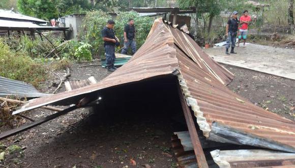 La Convención: fuertes vientos afectan al menos 11 viviendas