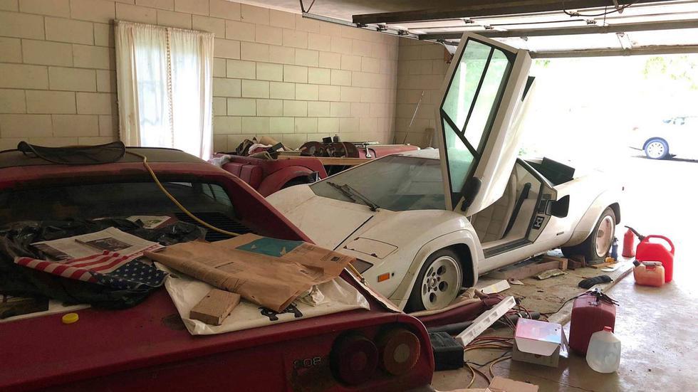 El Lamborghini Countach estuvo abandonado en un garaje por más de 20 años. (Foto: Reddit).
