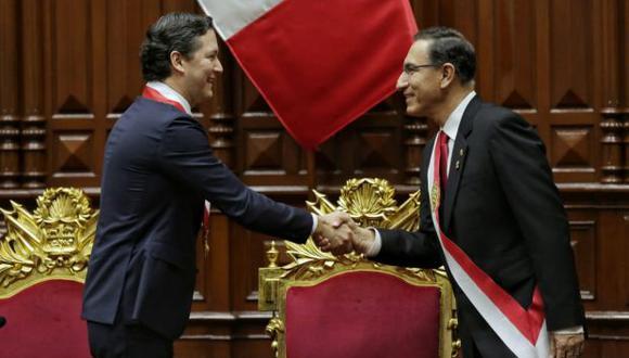 El presidente Martín Vizcarra propuso someter a referéndum cuatro temas, entre ellos la reelección de congresistas. (Foto: Anthony Niño de Guzmán / El Comercio)