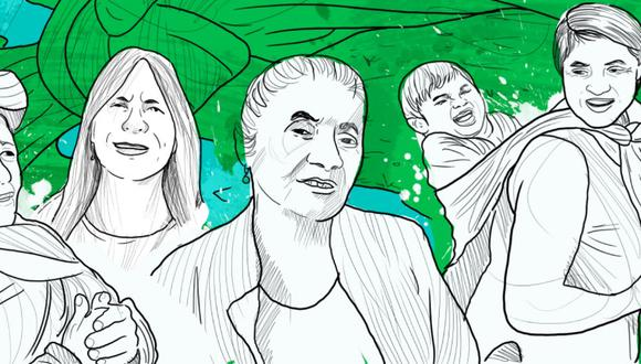 Este trabajo reúne tres historias de un grupo de mujeres de Piura, Moyobamba y Ayacucho. (Ilustración: Ricardo Macía)