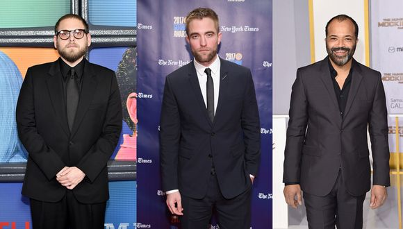 Jonah Hill, Jeffrey Wright y Robert Pattinson. (Foto: Agencia)