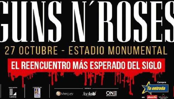 Concierto de Guns N´ Roses: La meta es el 'sold out'